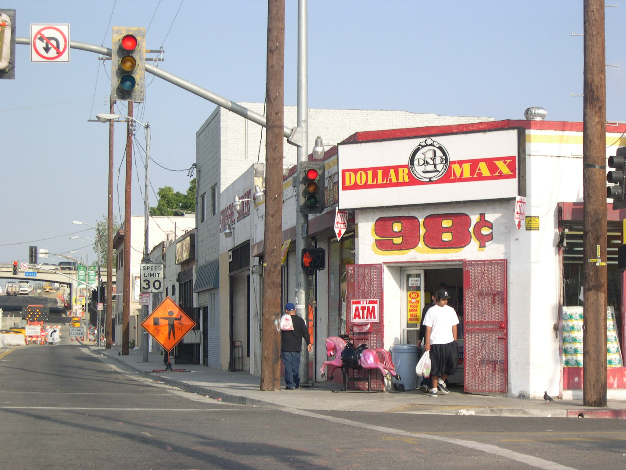 The good old 98 cent store, commerical anchor of the community