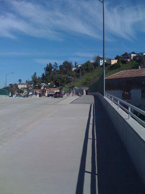 *new* bridge in El Sereno. Long overdue in a much neglected neighborhood.