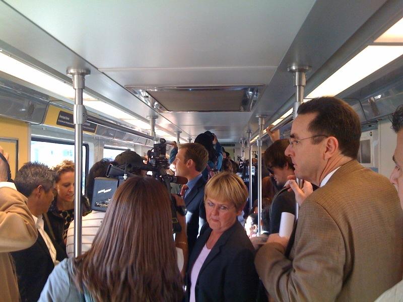 mob in train