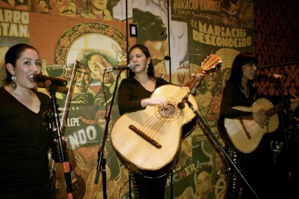 Los Trio Ellas members Suemy Gonzalez, Natalie Cortez, and Stephanie Armado