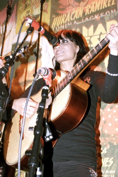 Stephanie Amaro on six strings.